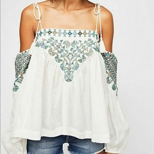 Free People Vacay Vibes Off Shoulder Boho Top